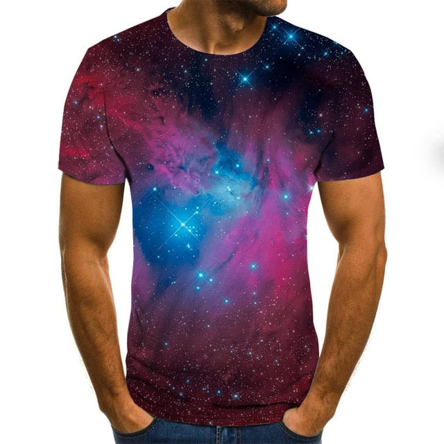 VanityVibe Starry Sky 3d Printed t-shirt for Men