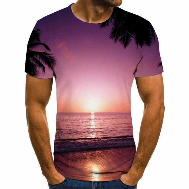 VanityVibe fashion Men's 3D fine printed T-shirt