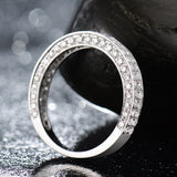 Sparkling 0.635ct Diamond Engagement Ring 14kt White Gold Band Jewelry