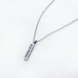 Personalization  EDIT Engraved Name Necklace Personalised Gift Strip Pendant Stainless Steel Unisex Fashion Necklaces & Pendants (JewelOra NE101301)