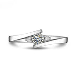 Fabulous 0.23 Carat Diamond Ring Wedding Platinum Ring