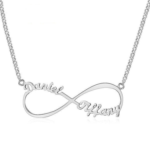EDIT v  Customize Name Necklace Infinity Endless Love 925 Sterling Silver Necklaces & Pendants Birthday Gifts For Her(JewelOra NE101367)
