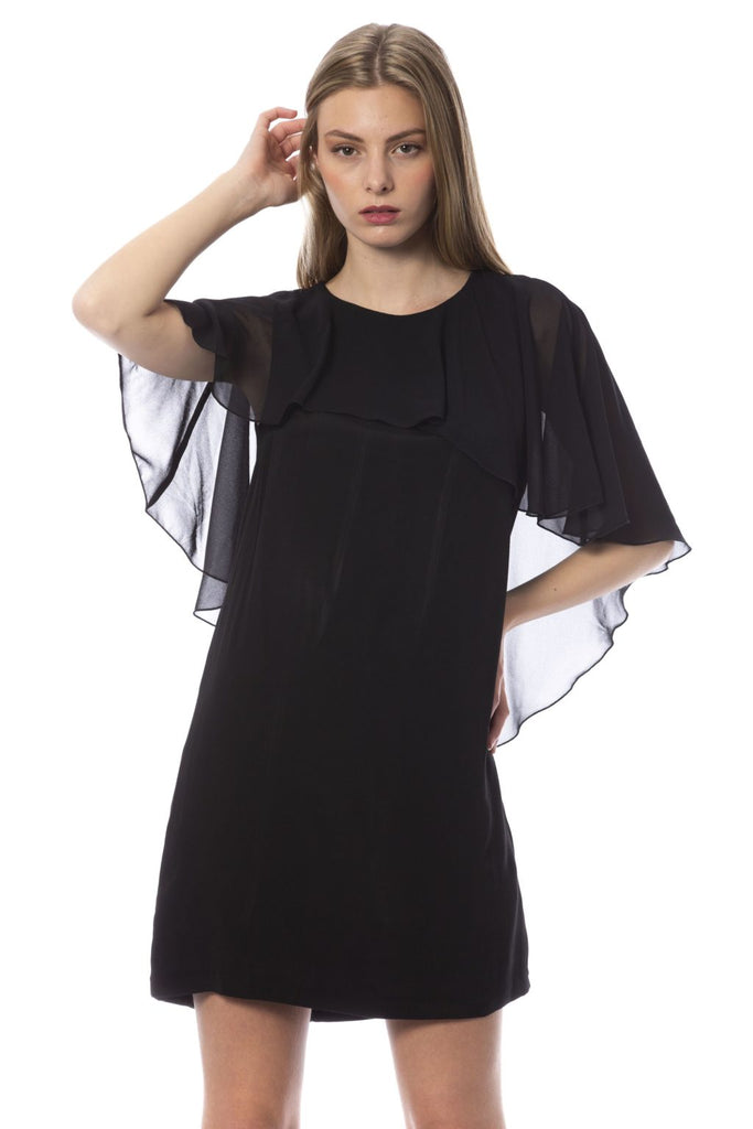 TRUSSARDI JEANS  K Black Viscose Crepe Dress