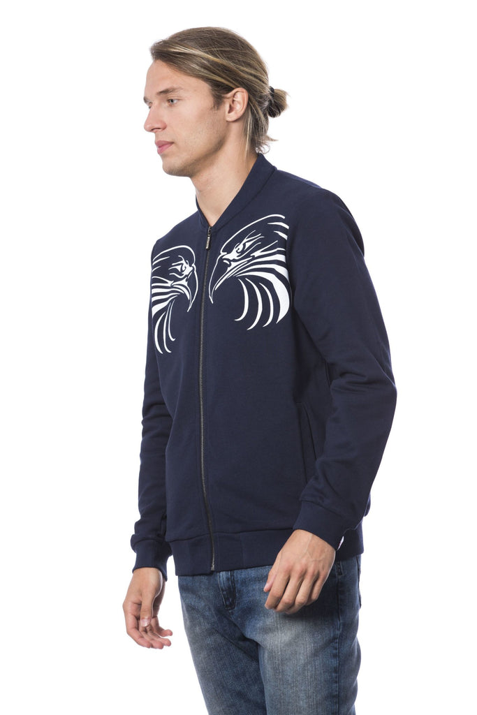 ROBERTO CAVALLI SPORT Dk Navy Zipper Sweater For Men