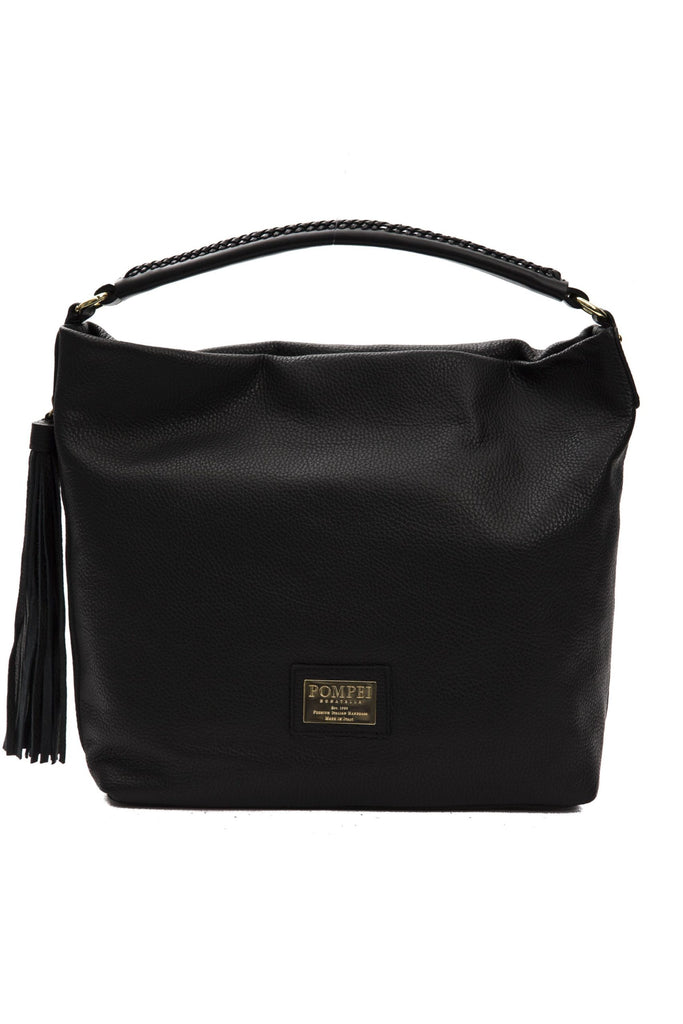 POMPEI DONATELLA Nero leather Black Shoulder Bag