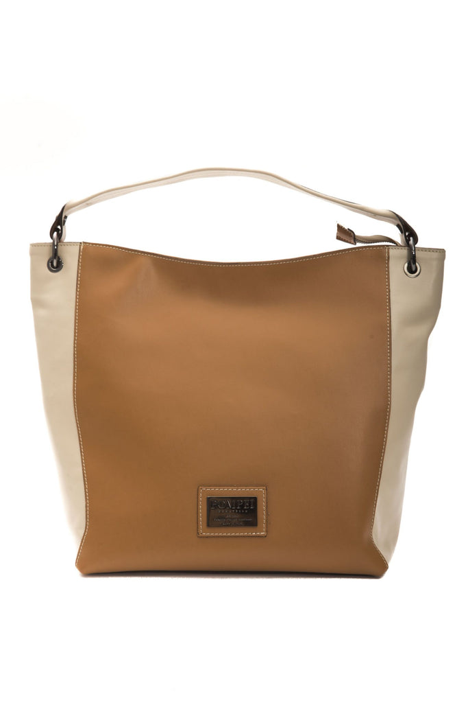 POMPEI DONATELLA Beige Cuoio Shoulder Bag For ladies