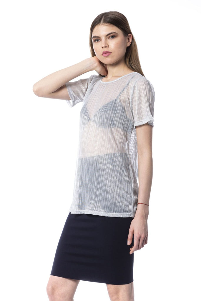 SILVIAN HEACH  Silver Transparent T-shirt & Top