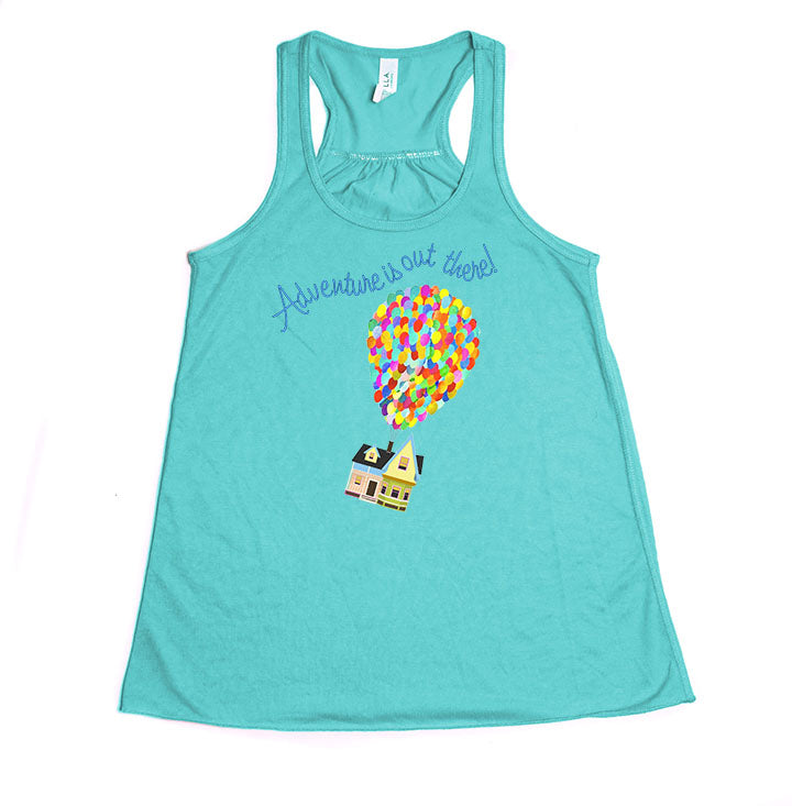 "Up! ""Adventure is out there!"" Youth Racerback Tank Top - Crazy Corgi Lady Designs"