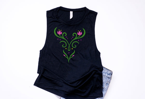 Princess Anna Muscle Tank - Crazy Corgi Lady Designs