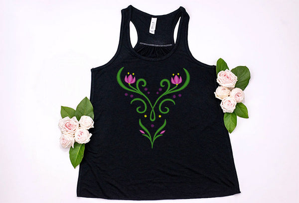Princess Anna Youth Racerback Tank Top - Crazy Corgi Lady Designs
