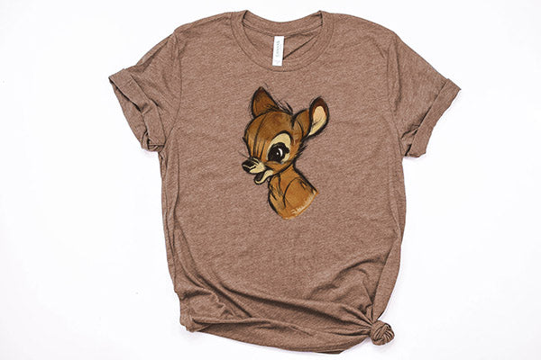 Bambi Sketch Unisex Tee - Crazy Corgi Lady Designs - Unique Disney Themed Shirts