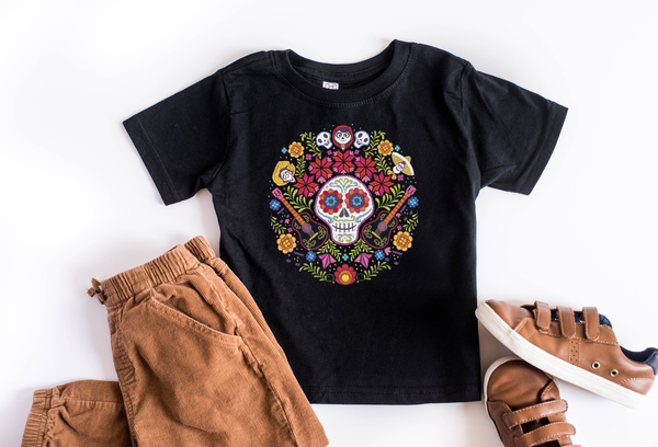 Coco Dios De Los Muertos Skull Youth T-Shirt - Crazy Corgi Lady Designs - Unique Disney Themed Shirts