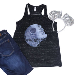 Death Star Racerback Tank - Crazy Corgi Lady Designs