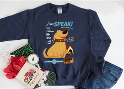 Dug The Talking Dog! on a Sweatshirt - Crazy Corgi Lady Designs - Unique Disney Themed Shirts