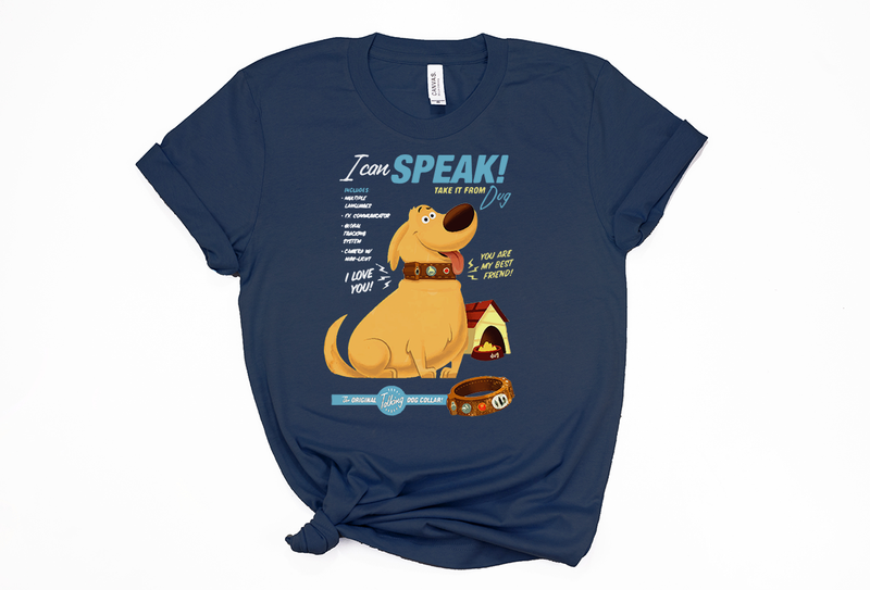 Dug The Talking Dog! on a Unisex Tee - Crazy Corgi Lady Designs - Unique Disney Themed Shirts