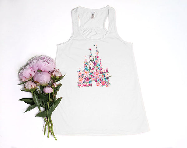Floral Castle Youth Racerback Tank Top - Crazy Corgi Lady Designs