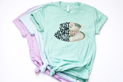 Just A Half Cup Alice in Wonderland Tee - Crazy Corgi Lady Designs - Unique Disney Themed Shirts