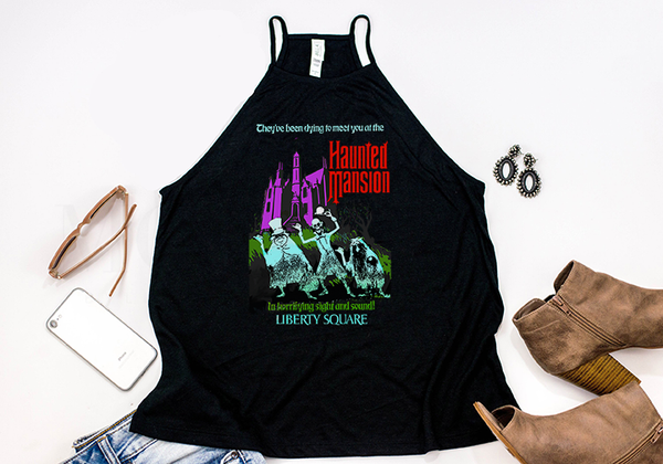 Haunted Mansion High Neck Tank - Crazy Corgi Lady Designs - Unique Disney Themed Shirts