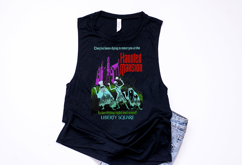 Haunted Mansion Muscle Tank - Crazy Corgi Lady Designs - Unique Disney Themed Shirts