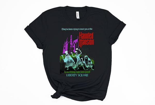 Haunted Mansion Tee - Crazy Corgi Lady Designs - Unique Disney Themed Shirts