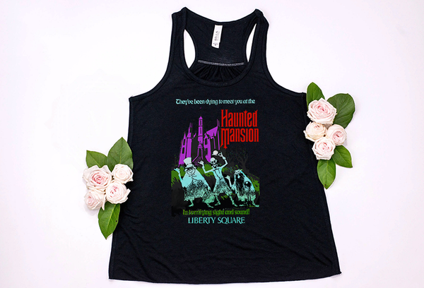 Haunted Mansion Racerback Tank Top - Crazy Corgi Lady Designs - Unique Disney Themed Shirts