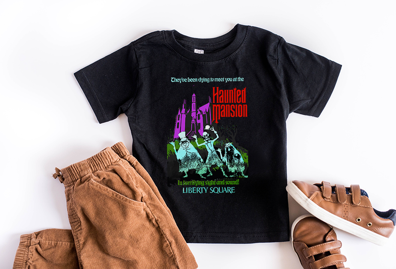 Haunted Mansion Youth T-Shirt - Crazy Corgi Lady Designs - Unique Disney Themed Shirts