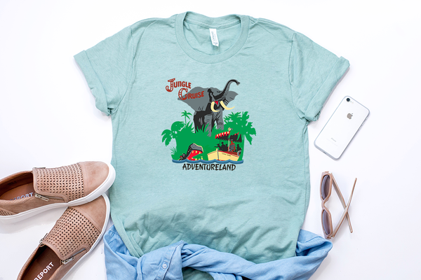 Jungle Cruise Tee - Crazy Corgi Lady Designs - Unique Disney Themed Shirts