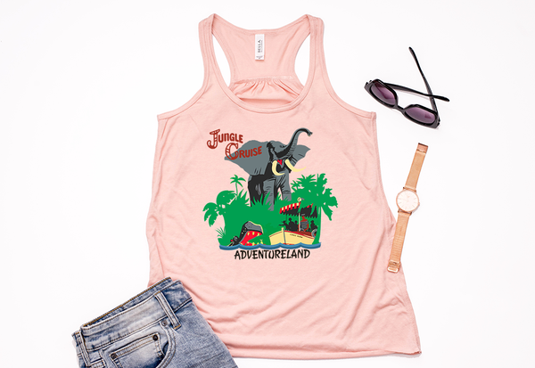 Jungle Cruise Youth Racerback Tank Top - Crazy Corgi Lady Designs - Unique Disney Themed Shirts