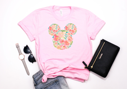 Watercolor Floral Mickey Tee - Crazy Corgi Lady Designs - Unique Disney Themed Shirts