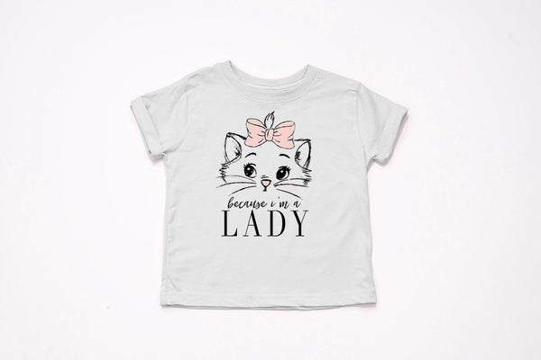 "Marie ""Because I'm A Lady!"" Youth T-Shirt - Crazy Corgi Lady Designs - Unique Disney Themed Shirts"