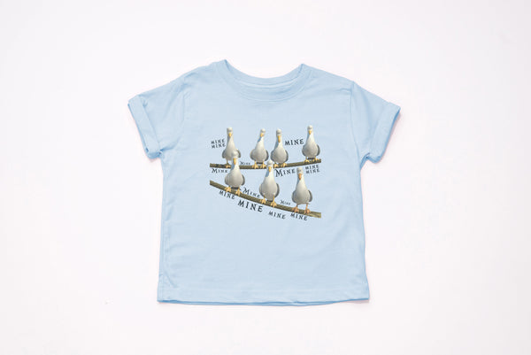 "Finding Nemo Seagulls ""MINE MINE"" Youth T-Shirt - Crazy Corgi Lady Designs - Unique Disney Themed Shirts"