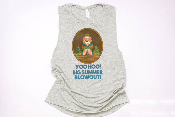 "Wandering Oaken's Trading Post ""Big Summer Blowout"" Muscle Tank - Crazy Corgi Lady Designs"