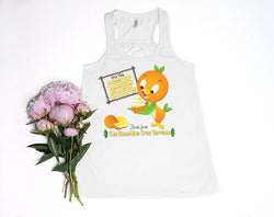 Orange Bird Citrus Swirl Youth Racerback Tank Top - Crazy Corgi Lady Designs