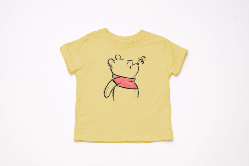 Winnie The Pooh Sketch Youth T-Shirt