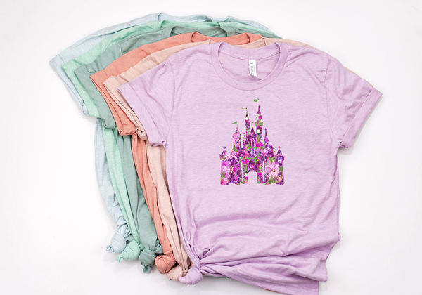 Potion Purple Floral Castle Tee