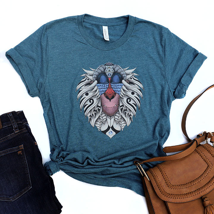 Ornate Rafiki Unisex Tee - Crazy Corgi Lady Designs - Unique Disney Themed Shirts