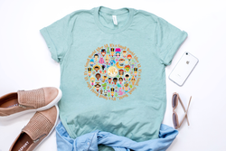 It's A Small World Circle Tee - Crazy Corgi Lady Designs - Unique Disney Themed Shirts