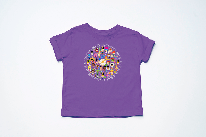 It's A Small World Circle Youth T-Shirt - Crazy Corgi Lady Designs - Unique Disney Themed Shirts