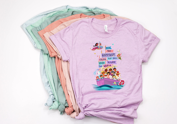 "It's A Small World ""Happiest Cruise"" Tee - Crazy Corgi Lady Designs - Unique Disney Themed Shirts"