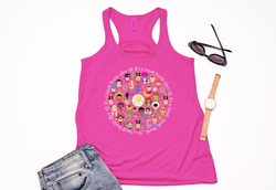 It's A Small World Cirlce Racerback Tank Top - Crazy Corgi Lady Designs - Unique Disney Themed Shirts