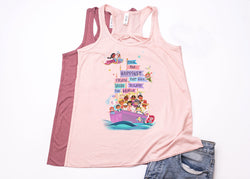 "It's A Small World ""Happiest Cruise"" Youth Racerback Tank Top - Crazy Corgi Lady Designs"