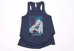 Space Mountain Poster Racerback Tank Top - Crazy Corgi Lady Designs
