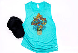 Splash Mountain Muscle Tank - Crazy Corgi Lady Designs