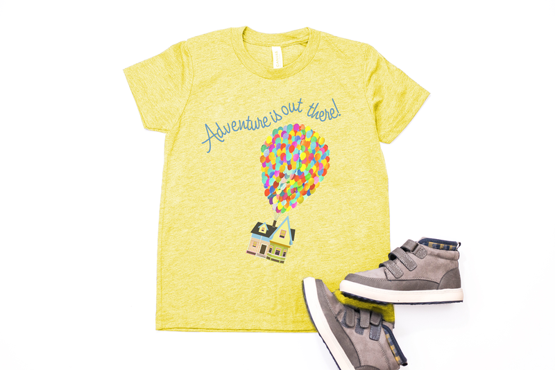 "Up! ""Adventure is out there"" Youth T-Shirt - Crazy Corgi Lady Designs - Unique Disney Themed Shirts"