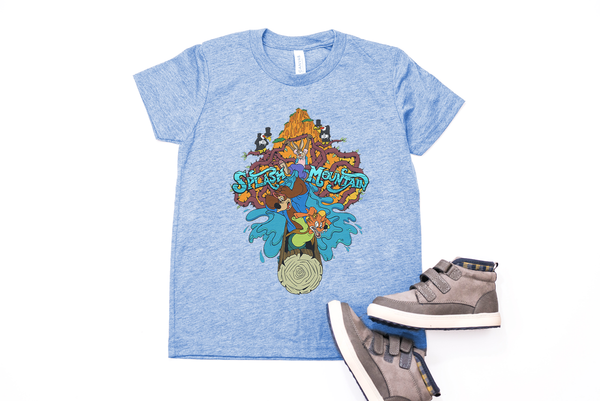 Splash Mountain Youth T-Shirt - Crazy Corgi Lady Designs - Unique Disney Themed Shirts