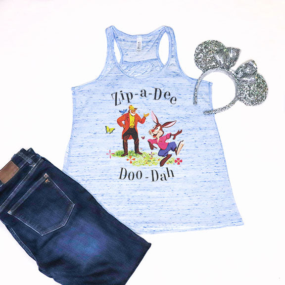 Zip-A-Dee-Doo-Dah Racerback Tank Top - Crazy Corgi Lady Designs