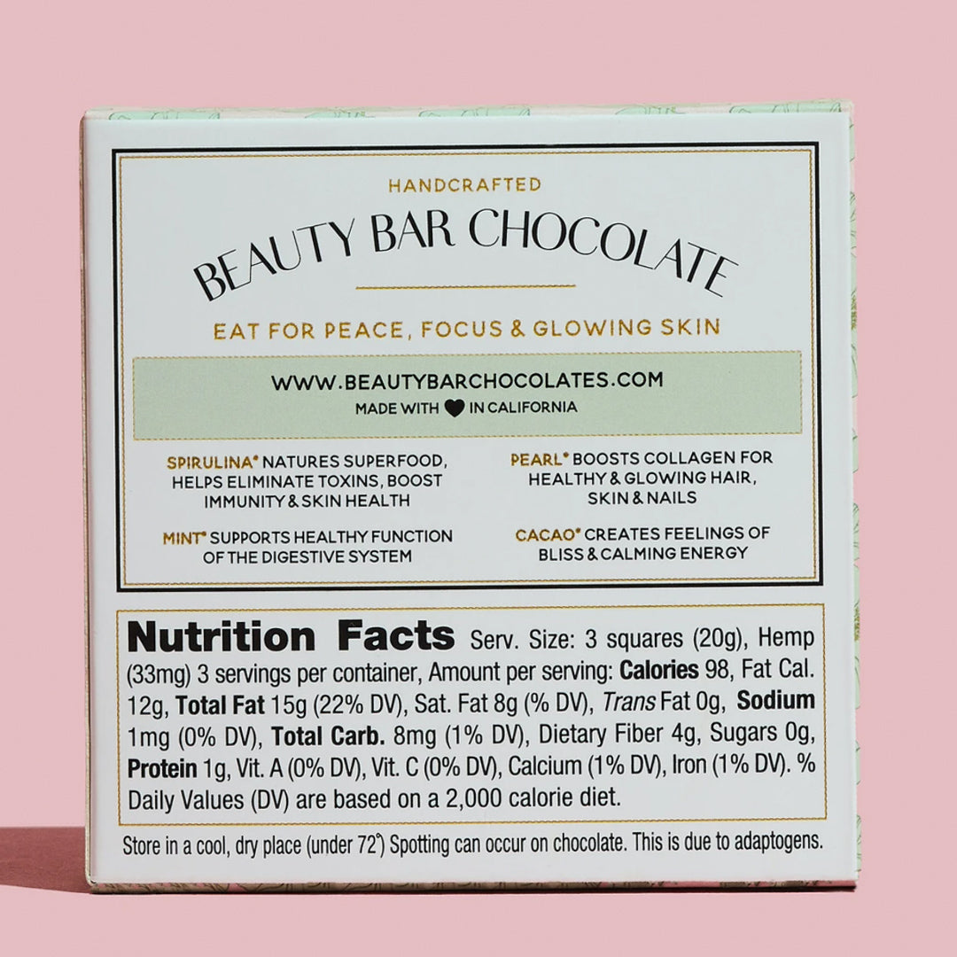 Beauty Bar Chocolate Ingredients - ekuBOX CURATED GIFT BOXES