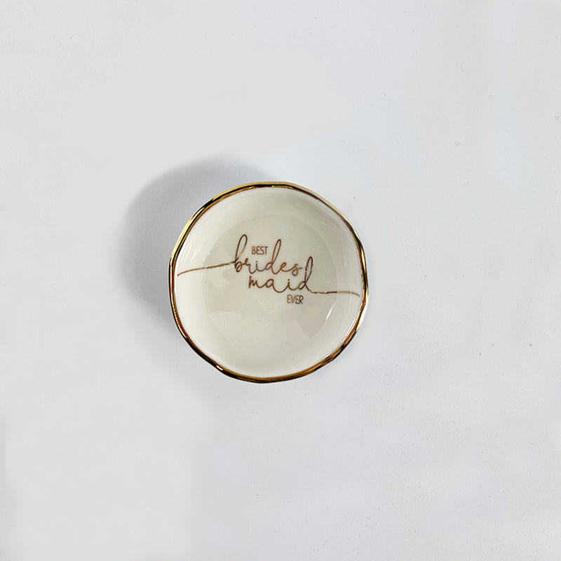 Best Bridesmaid ever jewelry - trinket dish - eku Box