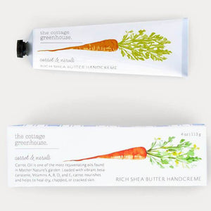 cottage greenhouse carrot neroli hand cream - eku box