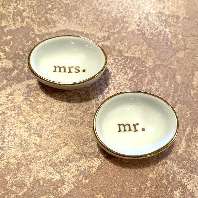 Mr and Mrs little ring cups